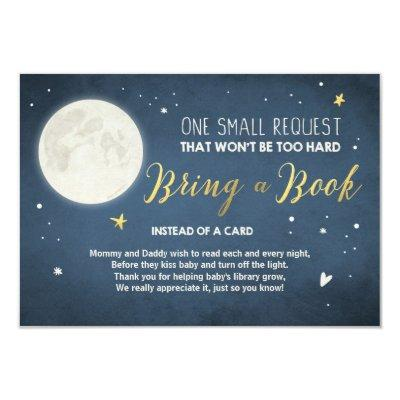 Bring a book Invitations To the moon and back Baby Shower