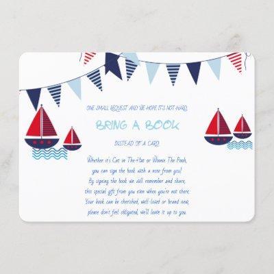 Bring a Book, Sailboats, Nautical, Custom Enclosure Card