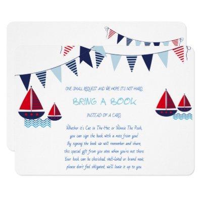 Bring a Book, Sailboats, Nautical, Custom Invitations