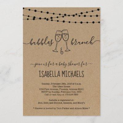 Bubble & Brunch Baby Shower Invitation