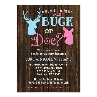 Buck or Doe Gender Reveal Party