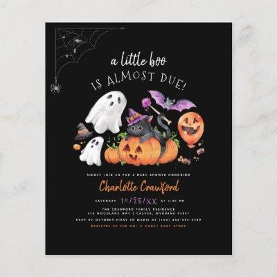Budget A Little Boo Spooky Halloween Baby Shower