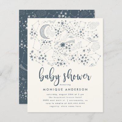 Budget Starry Night Constellation Baby Shower