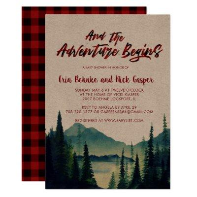 Buffalo Plaid | Mountain Baby Shower Invitations