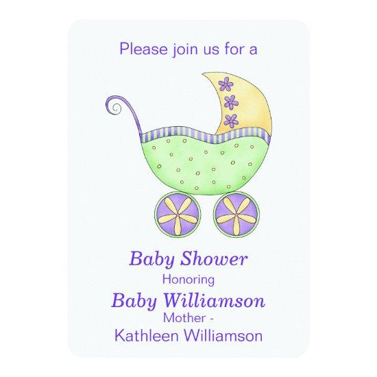 Buggy Carriage Lavender Green Baby