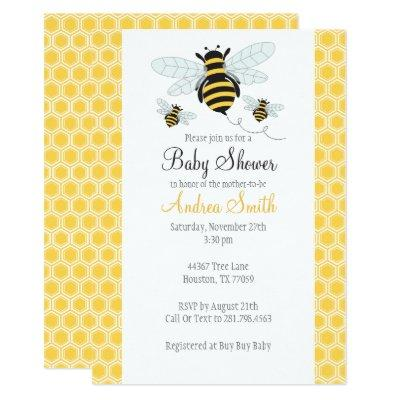 Bumble bee birthday baby shower invitations baby shower invitations bumble bee baby shower birthday party invitations filmwisefo