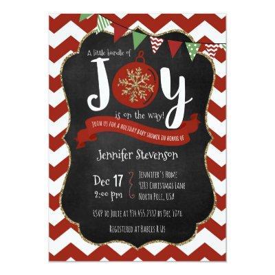 Bundle of Joy is on the Way Baby Shower Invitatio Invitations