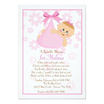Bundle of Joy (Pk) Sprinkle Baby Shower Invitation