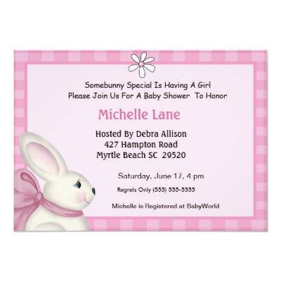 baby bunny invitation baby shower invitations  baby shower, Baby shower invitations