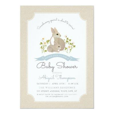 Easter Bunny Invitation Baby Shower Invitations Baby Shower