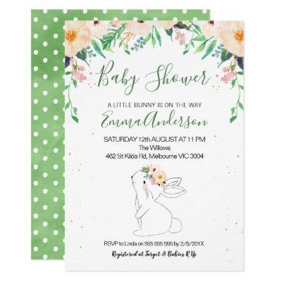 Bunny Gender Neutral Baby Shower Invitations