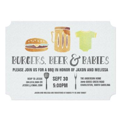 Burgers, Beer, and Babies - Couple's