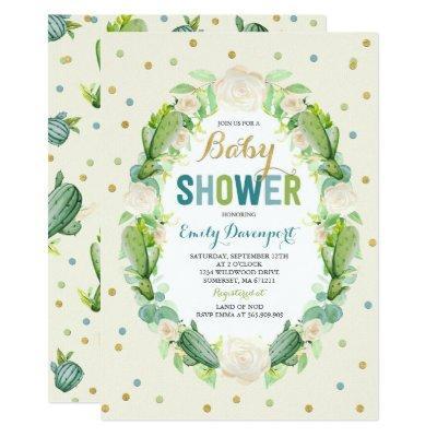 Cactus Invitations Succulents Shower