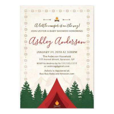 Camping Baby Shower Invitations