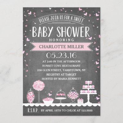 Candy Bar   Baby Shower Invitation