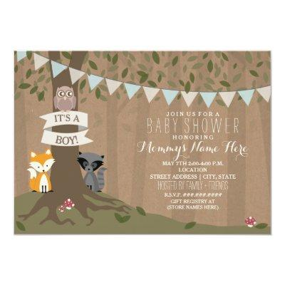 Invitationstock Inspired Woodland - Boy Invitations