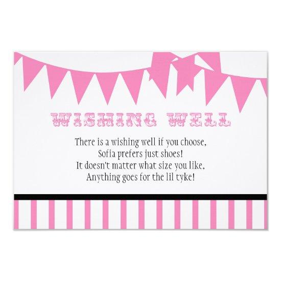 Carnival Baby Shower Wishing Well Card