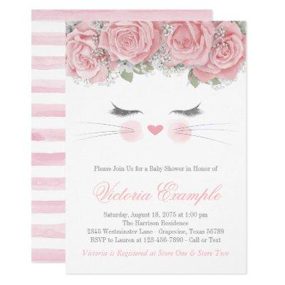 Cat Baby Shower Invitation