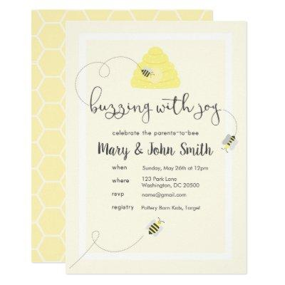 Celebrate the Parents-to-Bee Invitation