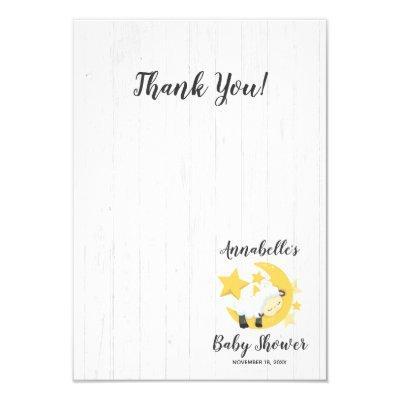 Celestial Moon Stars & Lamb Baby Shower Thank You Invitations