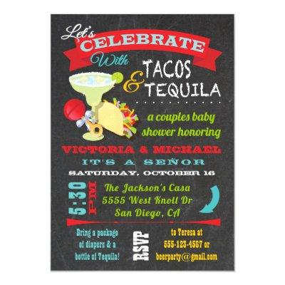 Chalkboard Tacos and Tequila Couples