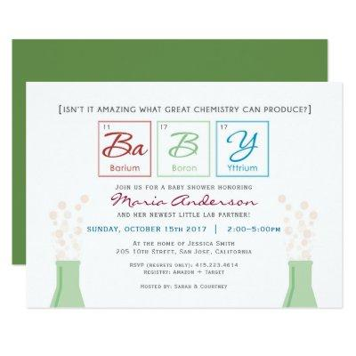 Chemistry BaBY Shower Periodic Table Invite