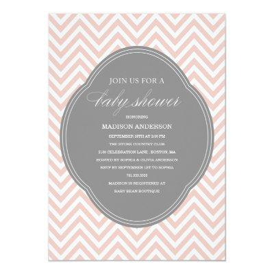 CHEVRON SHOWER | BABY SHOWER INVITATIONS