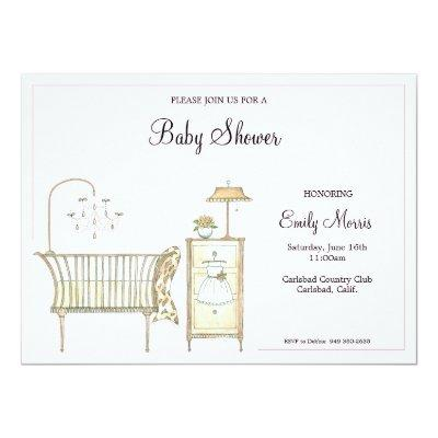 Chic Baby Room Invitations