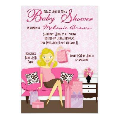 Mom to be baby shower invitations baby shower invitations chic modern mom with gifts baby shower invite filmwisefo