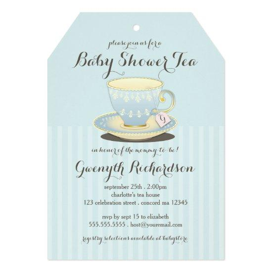 boy oh boy chic chevron baby shower invitations | baby shower, Baby shower invitations