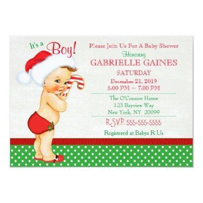 Christmas Boy Invitations Personalized