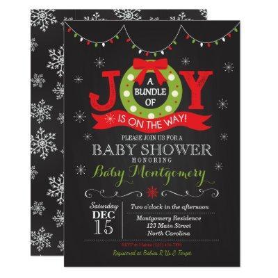Christmas Bundle of Joy Invitations