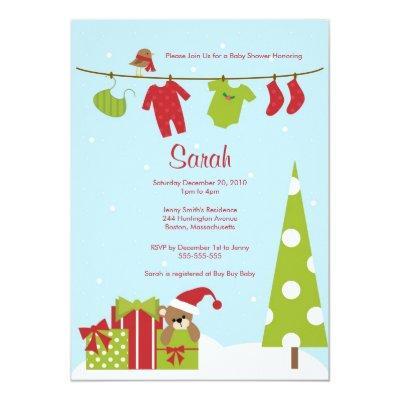 Christmas Clothesline Invite