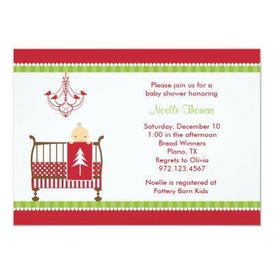 Christmas Crib Invitations