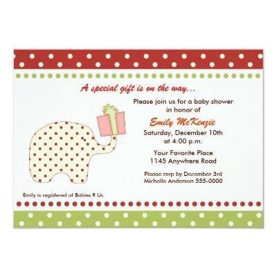 Christmas Elephant Invitations