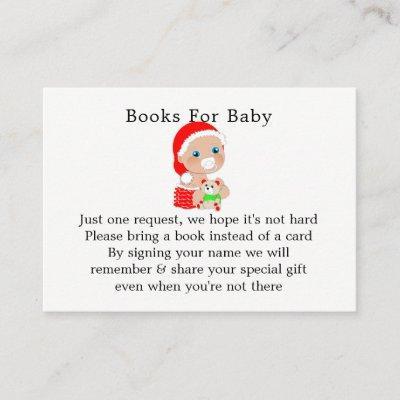 Christmas Santa Baby Shower Book Request Enclosure Card