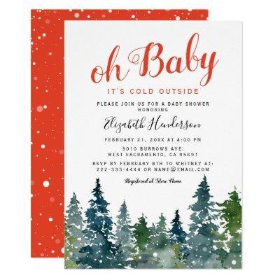 Christmas Winter Baby Shower Invitation