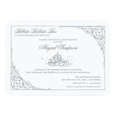 Cinderella Carriage | Fairytale Baby Shower Invitation