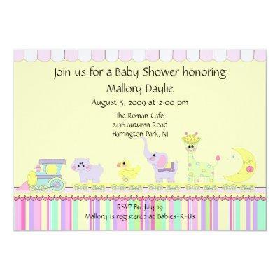 Circus Train Baby Shower Baby Shower Invitations Baby Shower