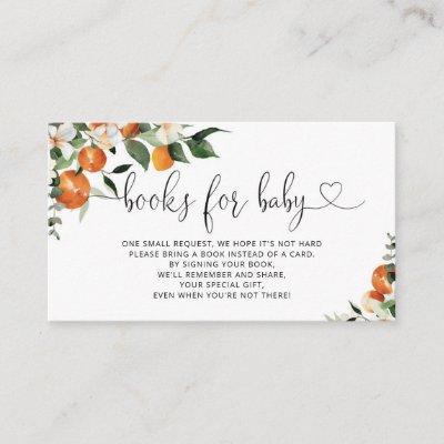 Citrus books for baby ticket enclosure card
