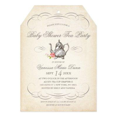 Classy Vintage Tea Party | Invitations