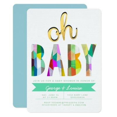 Color Baby Shower Invite