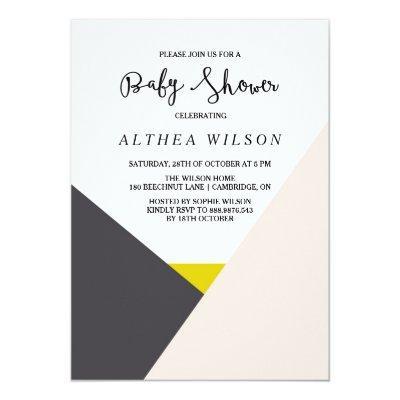 Color Block | Modern Baby Shower Invitation