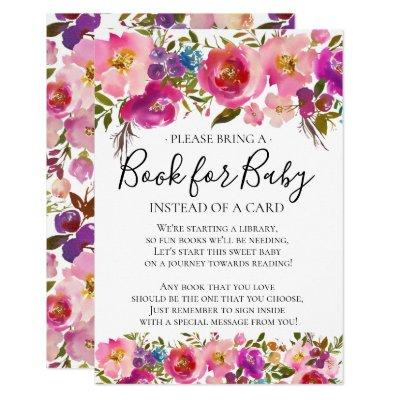 Colorful Floral Baby Shower Book for Baby Invitations