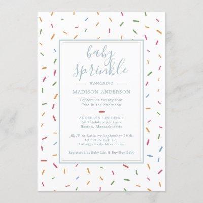 Colorful Sprinkles Baby Sprinkle Baby Shower Invitation