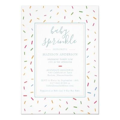 Colorful Sprinkles Baby Sprinkle Baby Shower Invitation