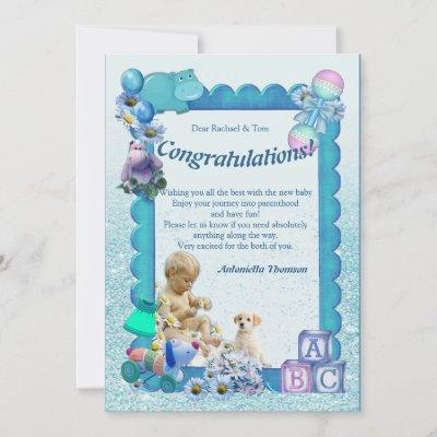 Congratulations New Baby BOY Card