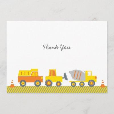 Construction Truck Thank You Invitations