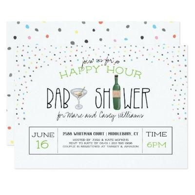 Couples Baby Shower | Happy Hour Invitations
