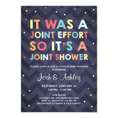 Couples Baby Shower invitation Coed Shower Joint